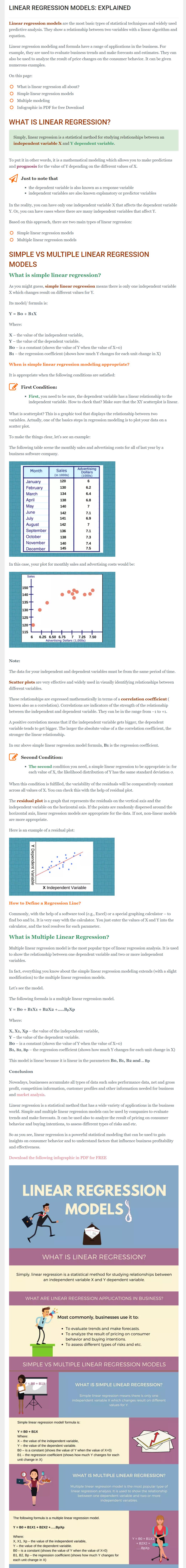 linear regression models