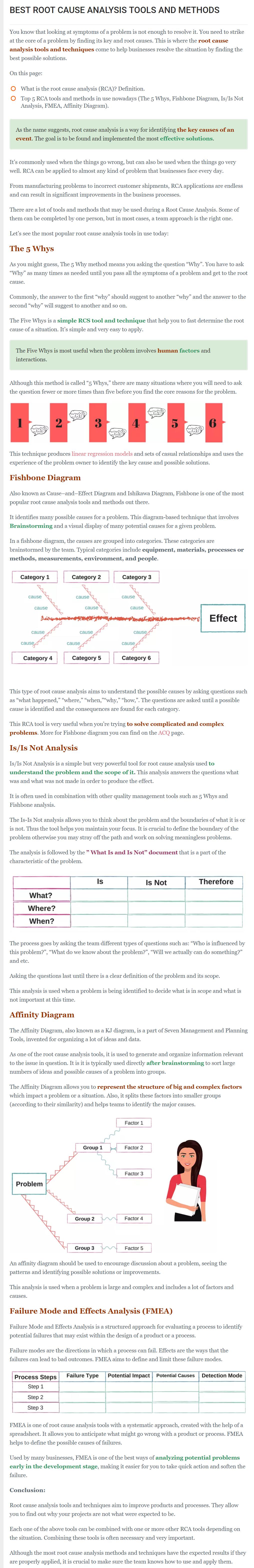 root cause analysis tools
