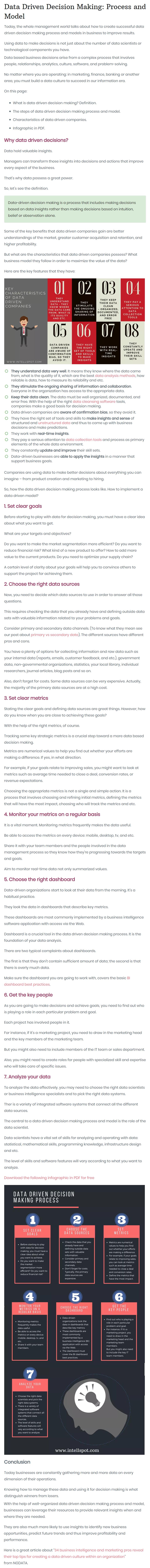 data-driven decision-making process