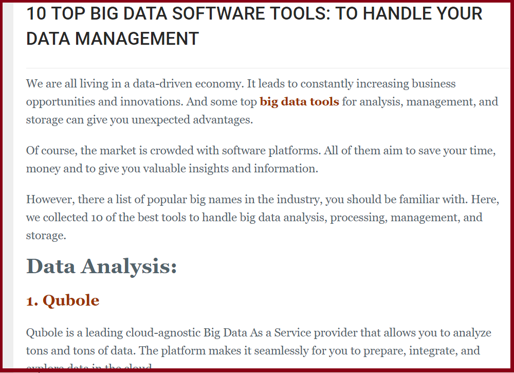 big data tools featured image